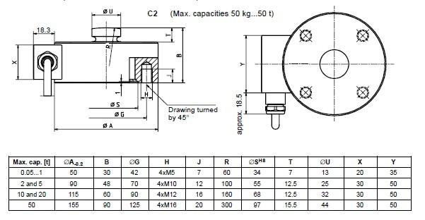 HBM C2-50KG 传感器