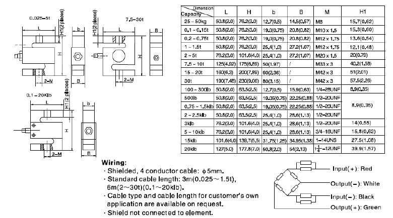 h3e-c3-5t称重传感器