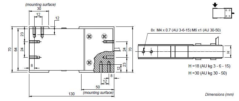 au-30kg称重传感器接线方式