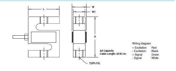 产品名称:美国Celtron称重传感器STC-250kg 产品品牌:美国世铨称重传感器 产品类型:S型称重传感器 产品型号:STC-250kg  美国Celtron称重传感器STC-250kg产品特点: -S型称重传感器; -合金钢设计,不锈钢可选 ; -双向(张力/压缩); -Celtron STC-250kg传感器合理化输出 ; -可选功能:调频批准可以使用 ; -防潮胶密封; -综合精度:0.